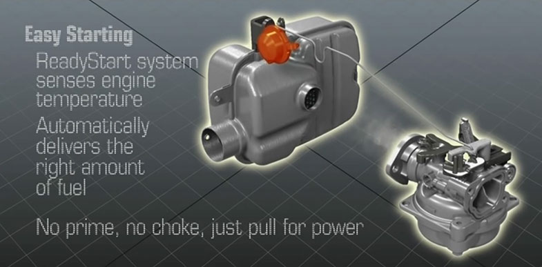 Readystart Engine Starting System No Prime Choke Just Pull For The Briggs Stratton Promise Guarantees It Will Start In 2 Tries