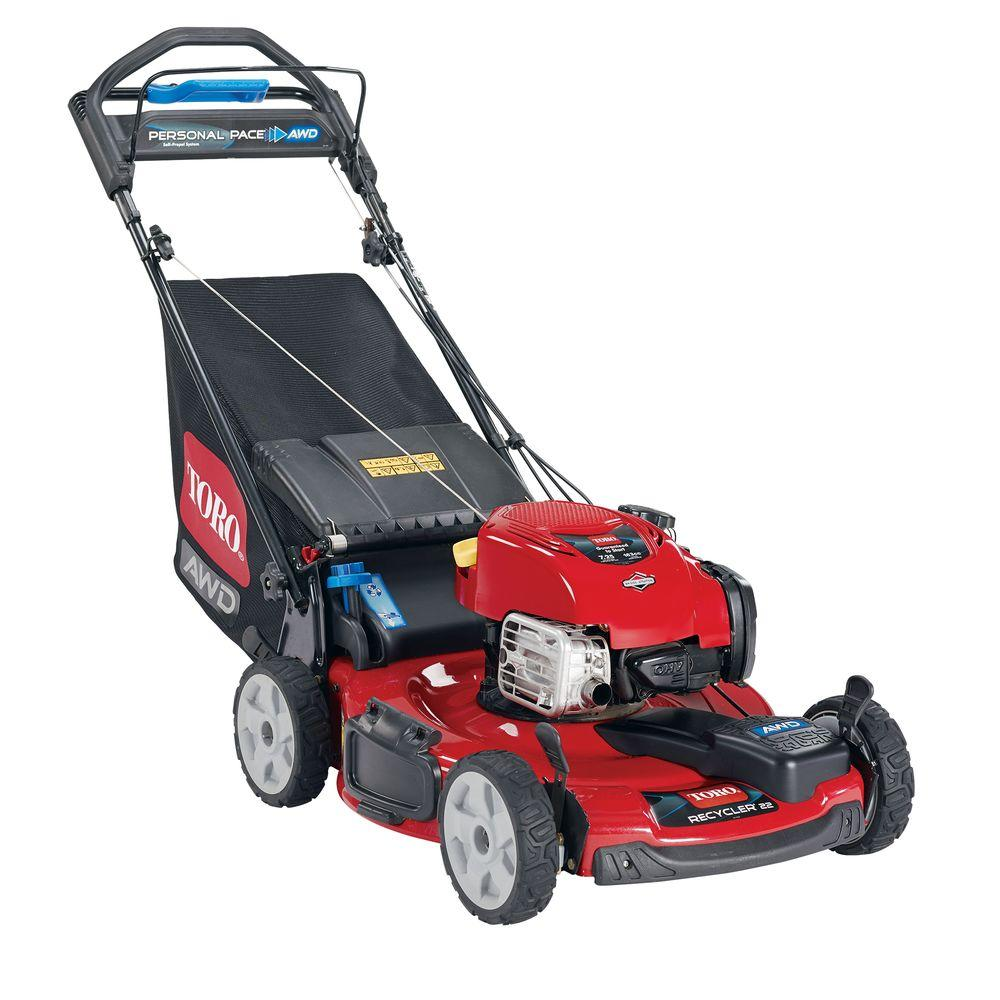Toro 20353 AWD recycler lawn mower with new Briggs & Stratton EXi engine